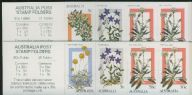 Aus SG1028a-b Alpine Wildflowers on APWH paper booklet panes (SB55-6) set of 2